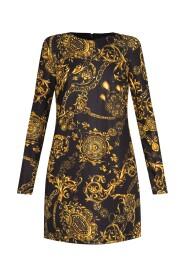Baroque-print dress