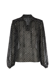 blouse polka dot flock print