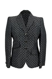 Patterned Cotton and Silk Blazer Jacket