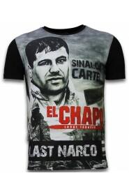 El Chapo Senaste Narco - Digital Rhinestone T-shirt