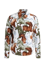 Chavaux jacket with horse print