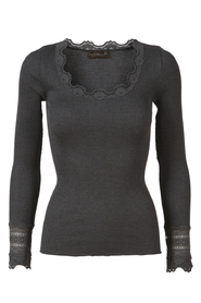 Silk t-shirt with lace