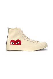 Play x Converse high beige canvas sneaker