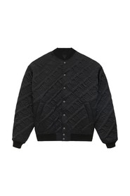 Allover Logo Quilted Bomber