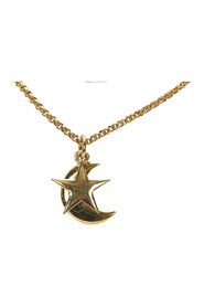 Moon And Star Pendant Necklace