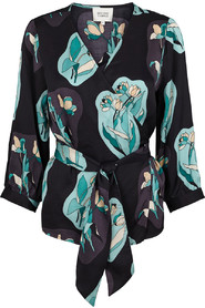 Tulip sort wrap bluse