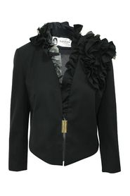 Elegant Blazer with Ruffles