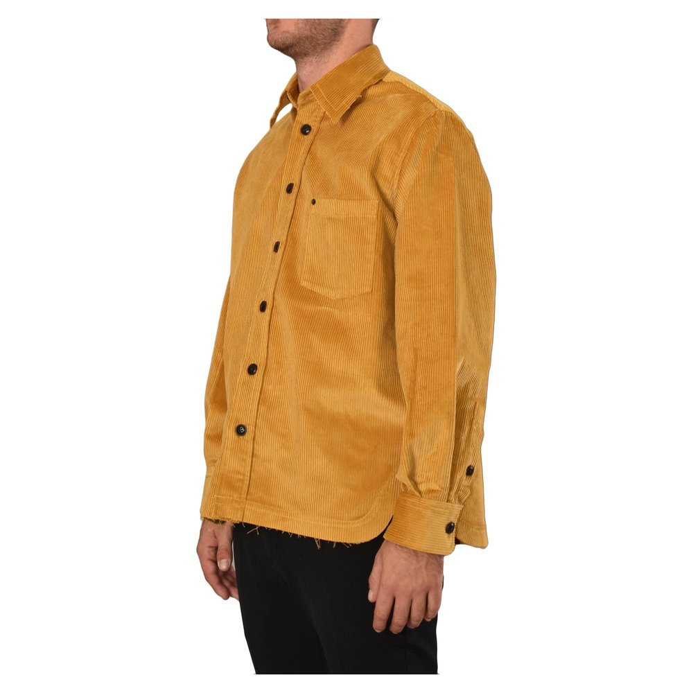 Yellow CAMICIA IN VELLUTO A COSTE | DNL | Hemden | Herrenbekleidung