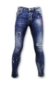 Skinny Jeans  Paint Drops Broek