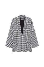 Gingham check jacket
