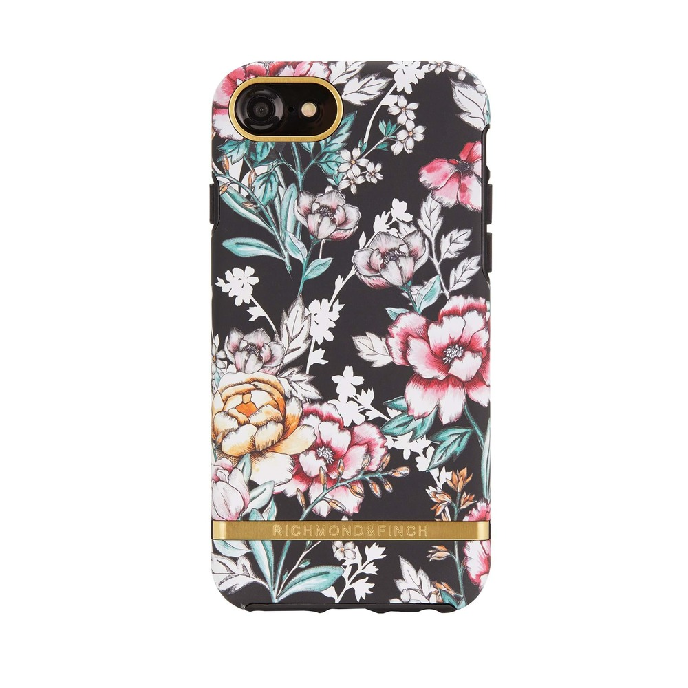 Iphone 8 Cover Black Floral
