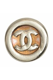 Pre-owned Vintage Chanel CC 1980s Pin