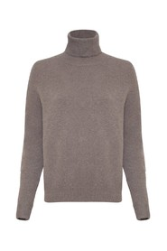 MOHAIR ROLL NECK PULLOVER