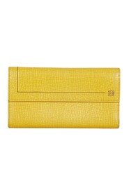 Anagram Leather Long Wallet