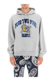 college embroidery hoodie