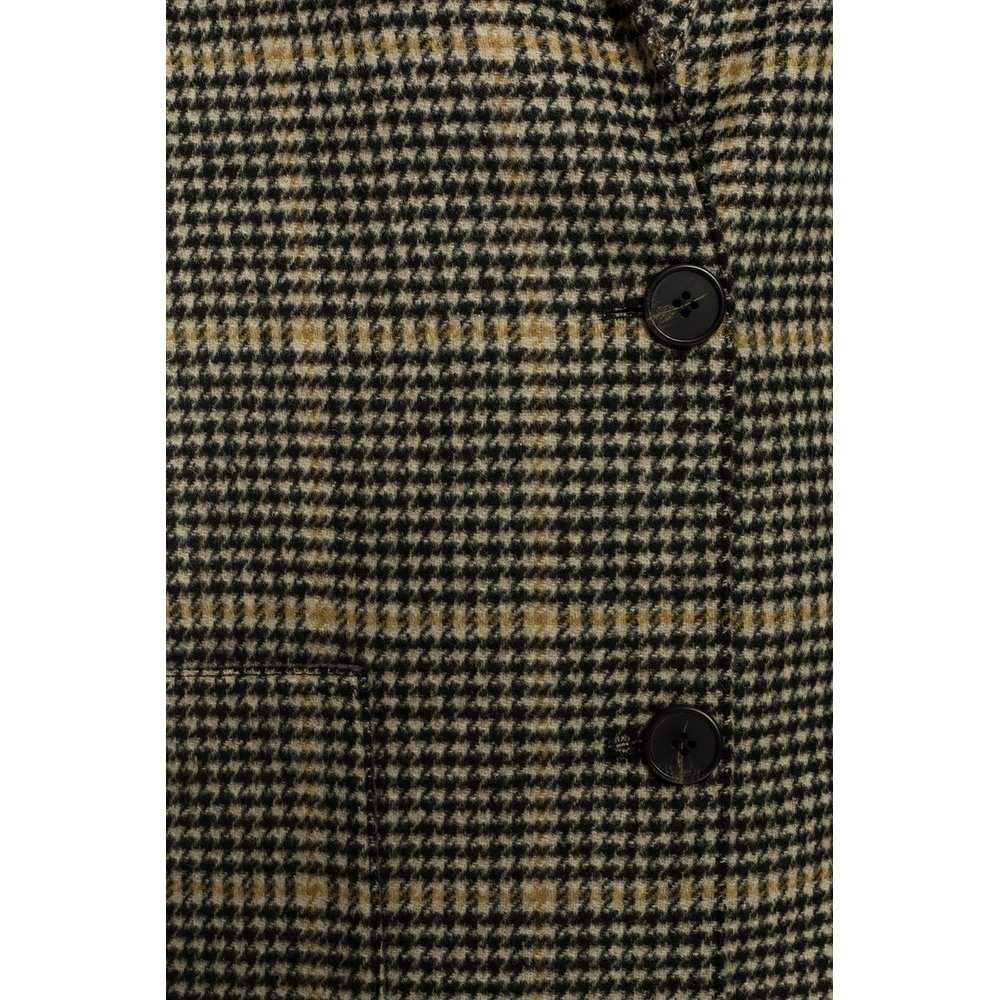 Beige 'Anya' checked coat  AllSaints  Trenchcoats