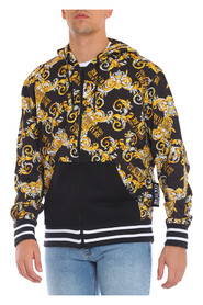 Allover Gold Print Hoodie