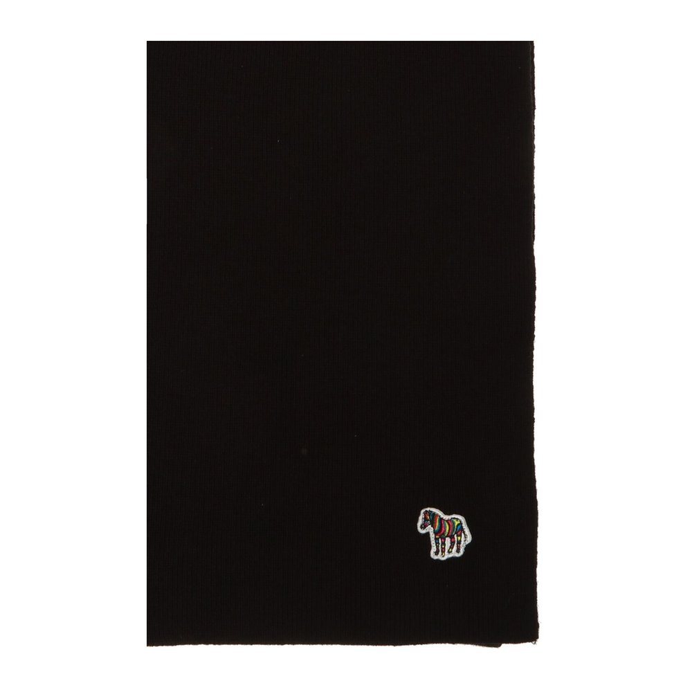 BLACK Scarf with logo | Paul Smith | Sjaals | Heren accessoires