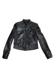 Svart Philosophy Blues Original Biker Skinnjakke