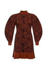 Joni zebra motif dress