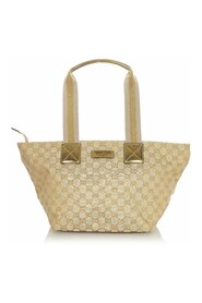 Pre-owned GG Canvas Web Tote Bag