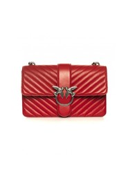 Mix Love shoulder bag in quilted nappa