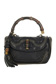 pre-owned New Bamboo Leather Handbag Leather Calf