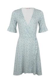 HS21.30243 Dress short ruffle minimal print