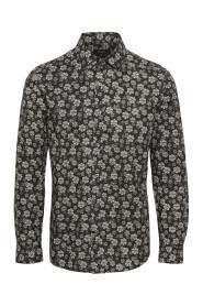 Trostol B1 Hand Drawn Flower Skjorte