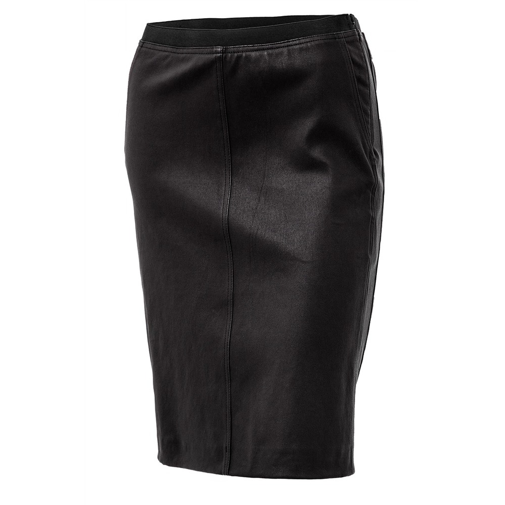 Rachel skirt, leather stretch black - Frontrow living