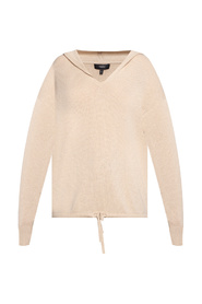 Cashmere hooded sweater