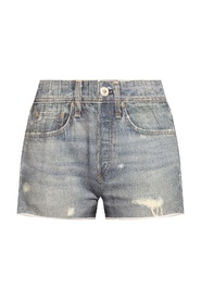 Shorts with denim motif