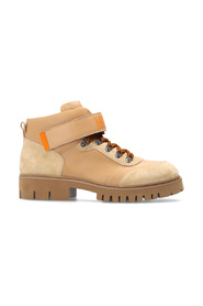 Combat boots with logo