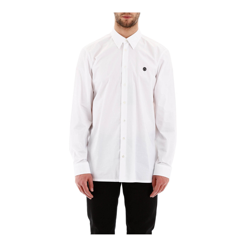 Shirt with smiley embroidery Raf Simons