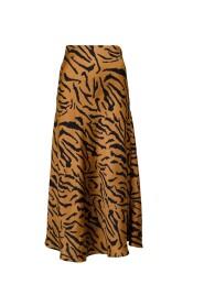 Bovary Satin Zebra Skirt