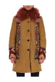 Tribal pattern detail coat