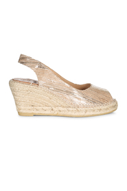Tan med glitter Kanna Wedges