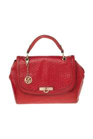 Textured Leather Flap Top Handle Bag