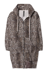 10Days katoenen hooded leopard vest - 20-857-9103