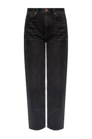 Hoch taillierte Jeans
