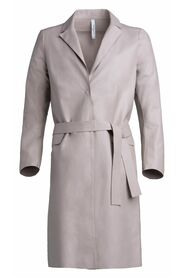 Natural leather coat