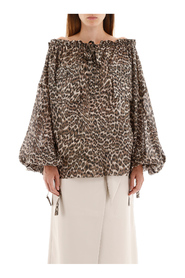 Leopard-printed blouse