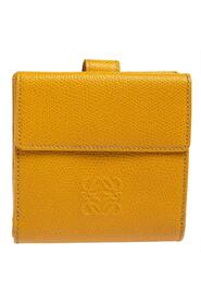 Yellow Leather French Wallet