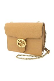 Interlocking G Chain Leather Crossbody Bag