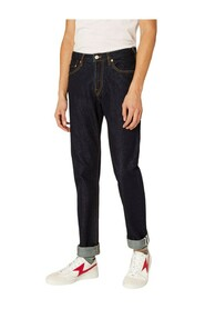 Tapered Fit Pink Selvedge Denim Jeans