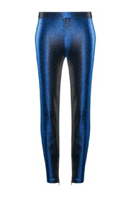Metallic effect trousers