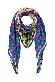 VATCHES Floral patchwork print modal scarf
