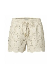 Shorts with broderie anglaise