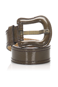 Patent Leather Belt Leather