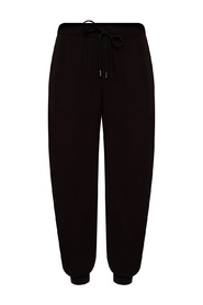 Trousers with rib cuffs